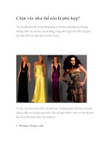Chọn váy như thế nào là phù hợp? potx