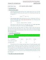 Chương 8: Cân bằng hóa học pdf