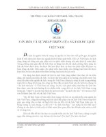 VĂN HÓA VÀ SỰ PHÁP TRIỂN CỦA NGÀNH DU LỊCH VIỆT NAM pdf