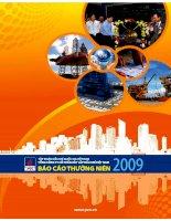 báo cáo thường niên 2009 tập đoàn dầu khí quốc gia VN tổng công ty cổ phần xây lắp dầu khí Việ tNam
