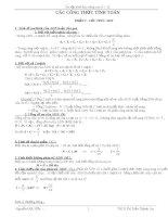 các công thức sinh học lớp 9 và lớp 12 luyện thi đại học trong 11 trang giấy