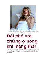 Đối phó với chứng ợ nóng khi mang thai doc