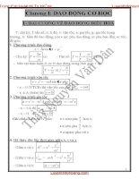 bộ công thức giải nhanh vật lý 12