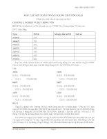 bài tập kế toán ngân hàng thương mại