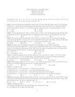 13 đề thi thử Hóa đại học năm 2014 (có đáp án)