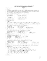 Bài tập trắc nghiệm hoá đại cương Bài 18 doc
