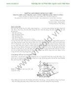 NHỮNG GIẢI PHÁP GIẢM VẬT LIỆU TRONG KẾT CẤU TRỌNG LỰC CÔNG TRÌNH CẢNG THUỶ CÔNG pptx