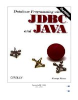 o''''reilly database programming with JDBC and Java 2nd edition phần 1 pps