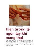Hiện tượng tê ngón tay khi mang thai pps
