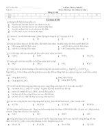 KIỂM TRA 15 PHÚT Môn: Hóa học 12 ( Sách cơ bản ) pdf