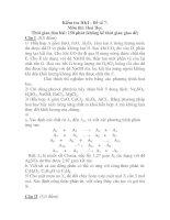 Kiểm tra HKI - Đề số 7: Môn thi: Hoá Học ppsx