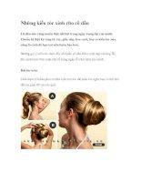 Những kiểu tóc xinh cho cô dâu pot