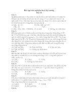 Bài tập trắc nghiệm hoá đại cương Bài 16 ppt