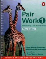 Pair work 1 Elementary Pre Intermediate phần 1 docx