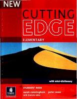 new cutting edge elementary student book phần 1 pptx