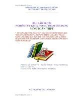 """BÁO cáo đề tài NGHIÊN cứu KHOA học sư PHẠM ỨNG DỤNG   PHƯƠNG TRÌNH mũ và PHƯƠNG TRÌNH LOGARIT"""" CHO HỌC SINH 12 TRƯỜNG THPT TRẦN HƯNG ĐẠO"""