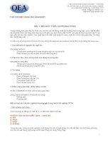 ÔN THI TIẾNG ANH THPT LỚP 12 THEO CHƯƠNG TRÌNH GIÁO DỤC PHỔ THÔNG - BÀI 1 pdf
