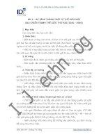 Công ty Cổ phần Đầu tư Công nghệ Giáo dục IDJ 2011   Bài 1 – SỰ HÌNH docx