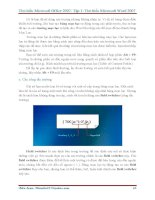 GIÁO TRÌNH Tìm hiểu Microsoft Word 2007 phiên bản tiếng việt(Lê Văn Hiếu) - 5 pdf