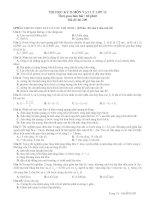 THI HỌC KỲ II MÔN VẬT LÝ LỚP 12 - Mã đề thi 02 pot