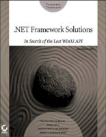 .NET Framework Solution In Search of the Lost Win32 API phần 1 pptx