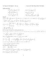 Bất đẳng thức tích phân- Nguyễn Phú Khánh ĐH Đà Lạt - 1 ppsx