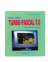 Giáo trình Turbo Pascal 7.0 - Lý thuyết, bài tập và lời giải part 1 ppt