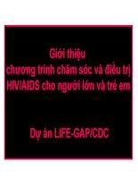 giới thiệu chương trình chăm sóc và điều trị hiv cho người lớn và trẻ em