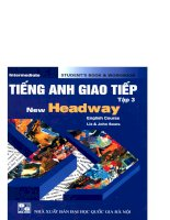 Tiếng Anh giao tiếp - New Headway tập 3 part 1 potx