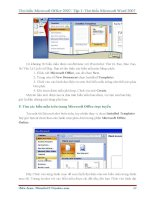 GIÁO TRÌNH Tìm hiểu Microsoft Word 2007 phiên bản tiếng việt(Lê Văn Hiếu) - 3 pptx