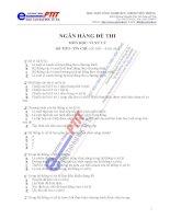 Ngân hàng đề thi Vi xử lý ngành điện tử viễn thông - 1 doc