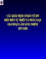 các khái niệm cơ bản về hiv diễn biến tự nhiên và phân loại lâm sàng các giai đoạn nhiễm hiv