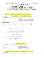 các công thức sinh học 12