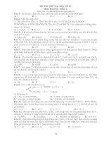 ĐỀ THI THỬ ĐẠI HỌC SỐ 03 Môn: Hoá Học - Khối A pdf