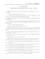 Bài tập những nguyên lí cơ bản của chủ nghĩa MácLênin