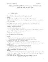đề cương ôn tập học kì 2 môn ngữ văn 11