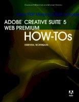 ADOBE CREATIVE SUITE 5 WEB PREMIUM HOW-TOs 100 ESSENTIAL TECHNIQUES phần 1 potx