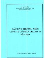 báo cáo thường niên công ty cổ phần lilama 18 năm 2011