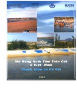 Mở rộng nuôi tôm trên cát ở Việt Nam - Thách thức và cơ hội part 1 pot