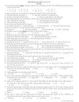 ĐỀ KIỂM TRA MÔN VẬT LÍ 12 ĐỀ 003 pptx
