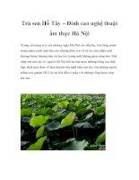 Trà sen Hồ Tây – Đỉnh cao nghệ thuật ẩm thực Hà Nội docx