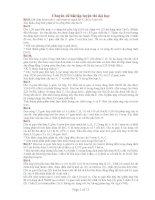 Chuyên đề bài tập luyện thi đại học Bài 8 ppt