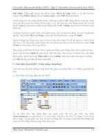 GIÁO TRÌNH Tìm hiểu Microsoft Excel 2007 phiên bản tiếng việt(Lê Văn Hiếu) - 2 pot