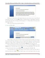 GIÁO TRÌNH Tìm hiểu Microsoft Word 2007 phiên bản tiếng việt(Lê Văn Hiếu) - 2 ppt