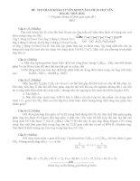 ĐỀ THI THAM KHẢO TUYỂN SINH VÀO LỚP 10 CHUYÊN Môn thi: HOÁ HỌC potx