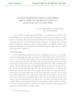 ỨNG DỤNG MÔ HÌNH THUỶ ĐỘNG LỰC HỌC MIKE 11 PHỤC VỤ CÔNG TÁC QUY HOẠCH VÀ QUẢN LÝ NGUỒN NƯỚC LƯU VỰC SÔNG HỒNG pot
