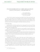 ỨNG DỤNG MÔ HÌNH THUỶ LỰC 2 CHIỀU TRONG QUY HOẠCH QUẢN LÝ VÙNG NGẬP LŨ - GIẢM NHẸ THIÊN TAI pps