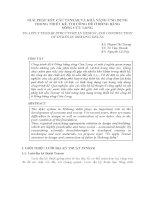 GIẢI PHÁP KẾT CẤU TENSAR VÀ KHẢ NĂNG ỨNG DỤNG TRONG THIẾT KẾ, THI CÔNG ĐÊ Ở ĐỒNG BẰNG SÔNG CỬU LONG pptx