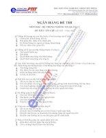 Ngân hàng đề thi Hệ thống thông tin quản lý ngành điện tử viễn thông - 1 doc