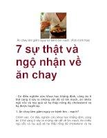 7 sự thật và ngộ nhận về ăn chay docx